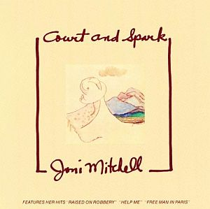 "Joni Mitchell's 6th and most successful studio album, ""Court and Spark,"" released on Asylum, January 1974."