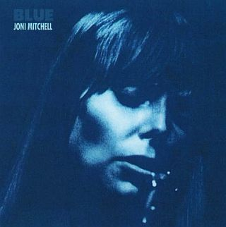 "Cover of Joni Mitchell's 1971 album, ""Blue."""