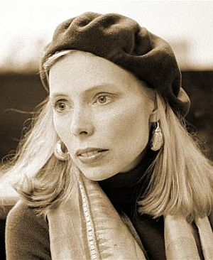 Joni Mitchell, in a pensive moment, 1976. Photo, Joel Bernstein.