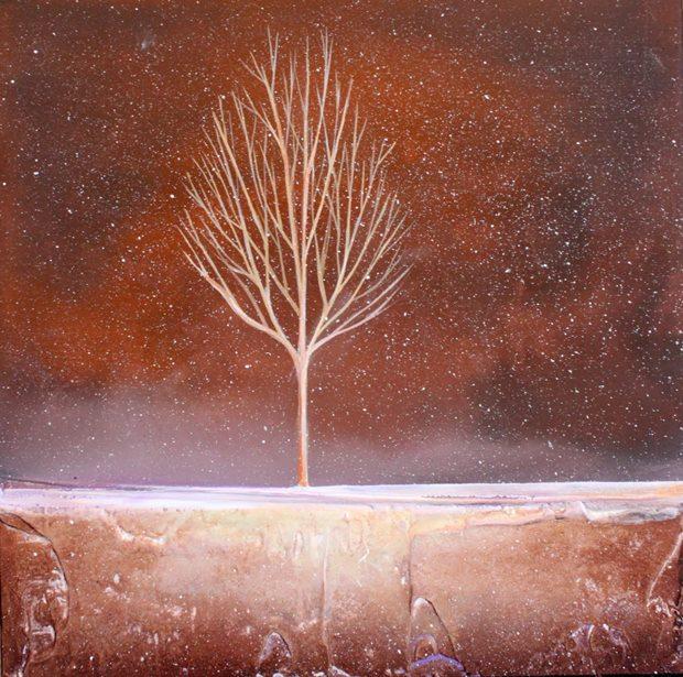 Winter trees paintigs - Πίνακες με Χειμωνιάτικα δέντρα.