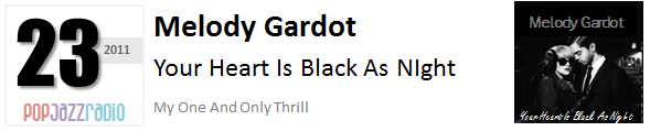 Pop Jazz Radio Charts top 23 (Best of 2011) Melody Gardot - Your Heart Is Black As Night