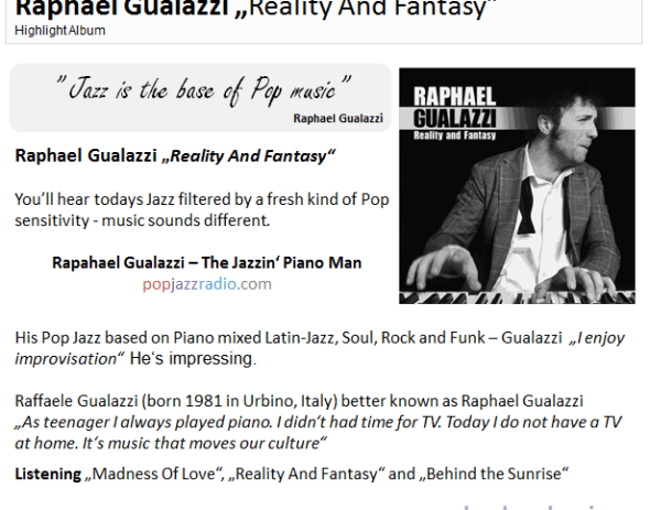 Raphael Gualazzi pop jazz radio highlight june 2011