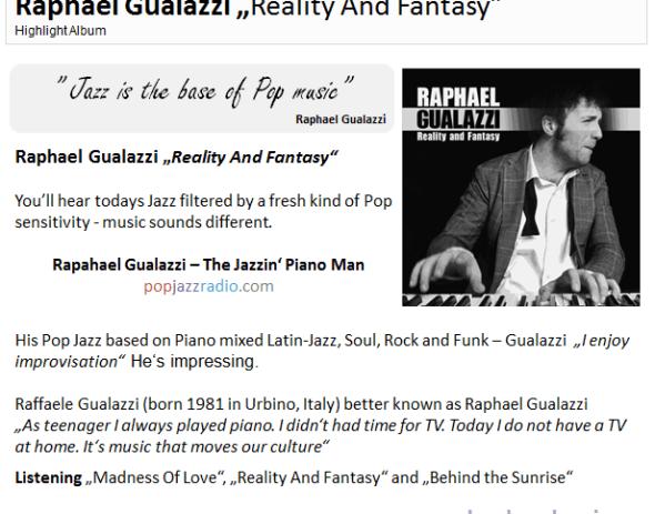 Raphael Gualazzi pop jazz radio highlight june 2011