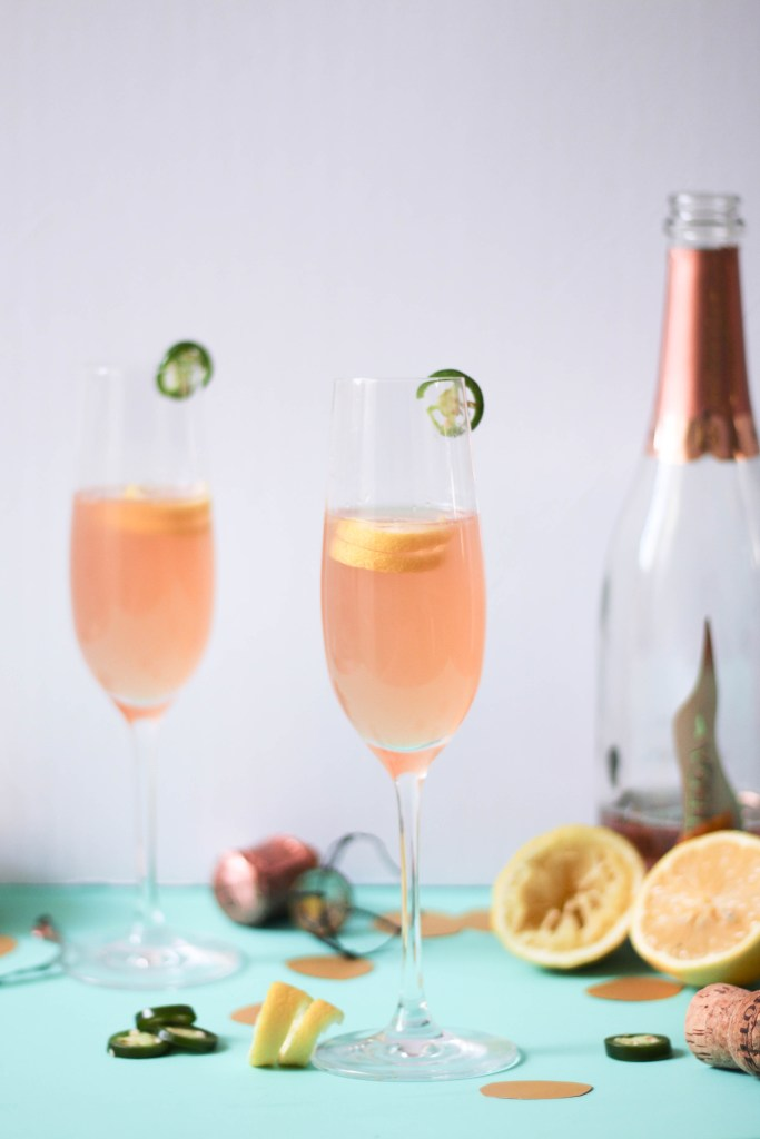 Bright, floral and spicy champagne cocktails