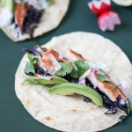 Easy smoked rainbow trout tacos with ginger cream + sautéed cabbage | POP KITCHEN