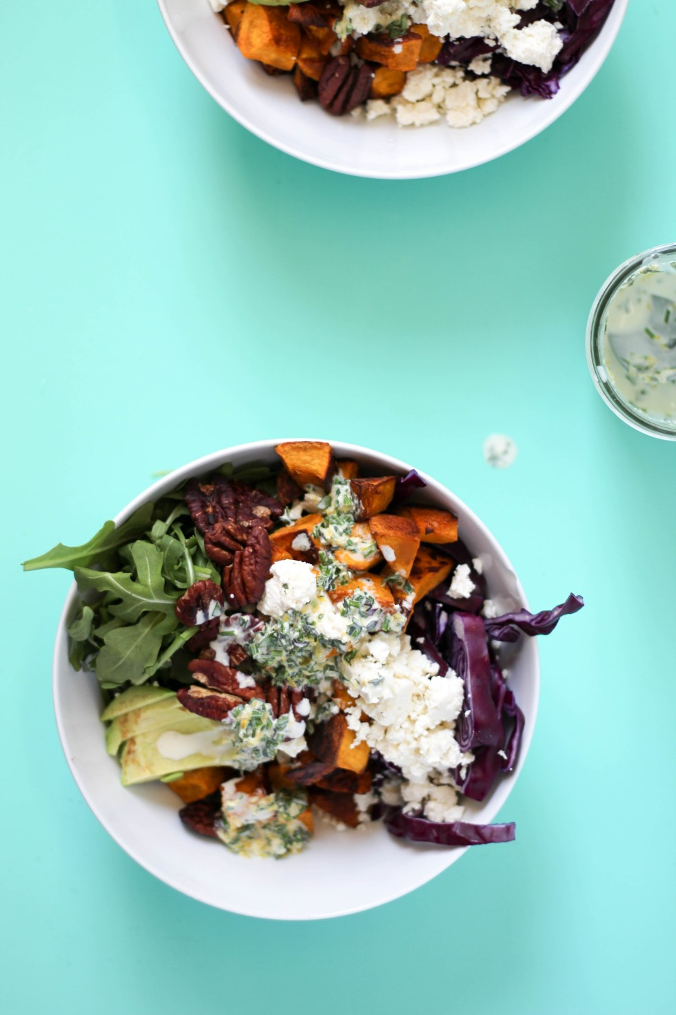 A winter salad with roasted squash, bulgur wheat + a buttermilk dressing | POP KITCHEN
