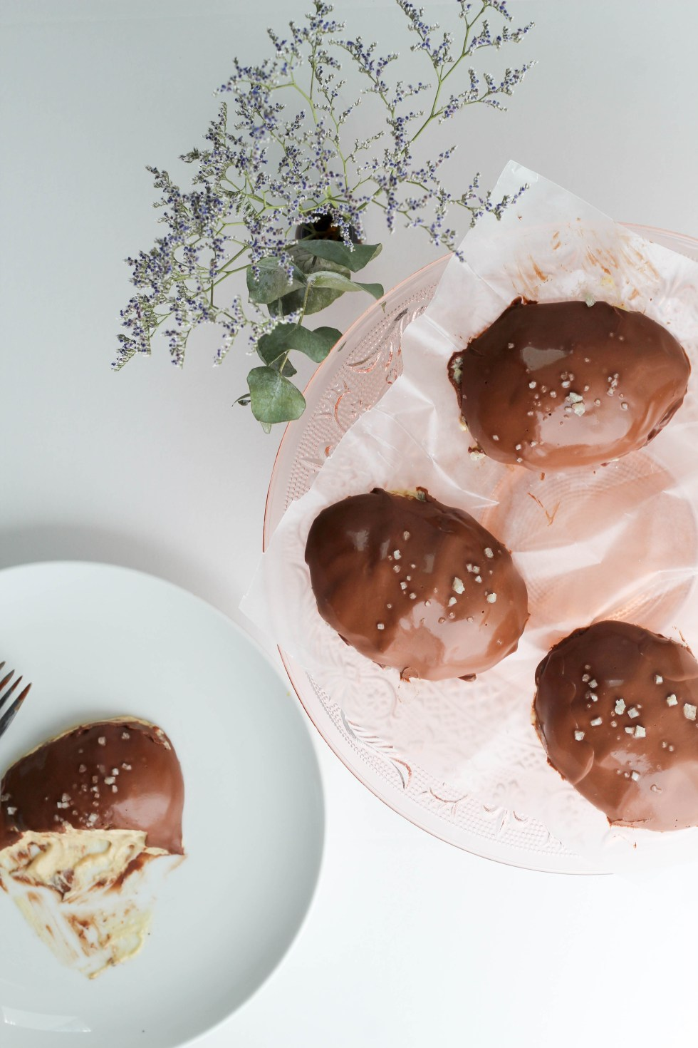 Chocolate Covered Peanut Butter Mousse Eggs with sea salt. 7 ingredients and all natural // POP KITCHEN