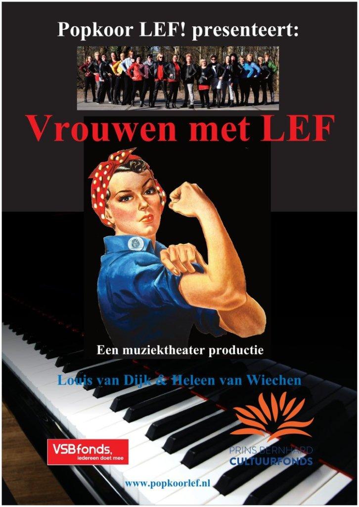 """6 maart 2020 theaterproductie """"Vrouwen met LEF"""" in Theater De Kaasfabriek in Wormer"""