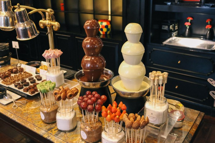 Chocolate buffet served 3-6pm daily in Le Club