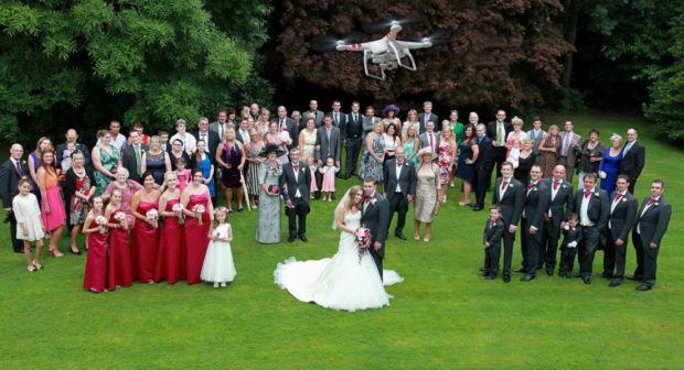 tendência de casamento uso de drones