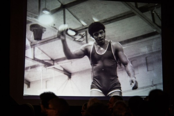 Neil deGrasse Tyson as a young man and a wrestler.