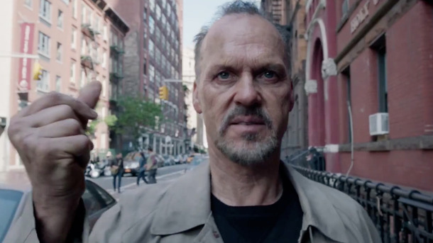 'Birdman' rarely ventures outside the theatre. When it does, there's a reason. Image: Fox Searchlight Pictures.