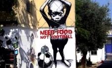 Un murale dipinto dall'artista di strada Paulo Ito all'entrata di una scuola pubblica di San Paolo