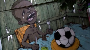 Graffiti painted by Brazilian street artist