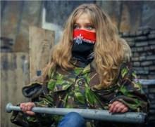 Militante di Pravy Sektor.