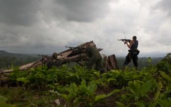 Miliziani Farc in azione.