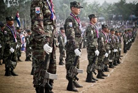 Guerriglieri dell'Esercito dello Stato shan (Ssa).
