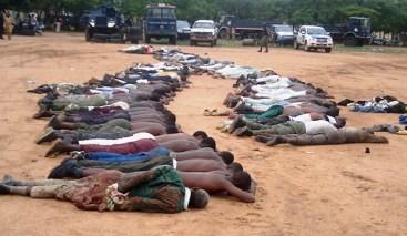 Membri di Boko Haram massacrati dall'esercito.