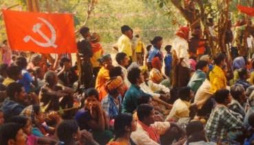Assemblea pubblica organizzata dai maoisti.