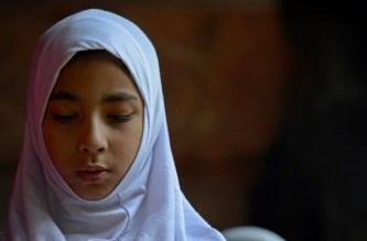 Bambina musulmana a Poso.