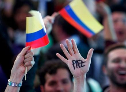 Bogotà. Manifestazione per la pace.