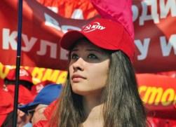 Una militante del Kpu.