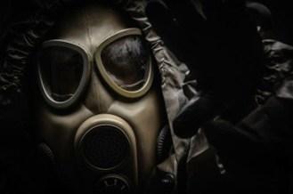 La maschera utilizzata per proteggersi all'antrace.