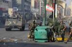Uno dei posti di blocco istituiti dall'esercito libanese.