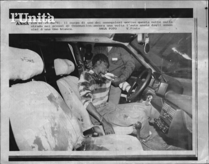 18/08/1991 i killer della uno bianca colpiscono una macchina con a bordo tre senegalesi due morti