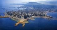 Tripoli e il suo porto visti dall'alto.