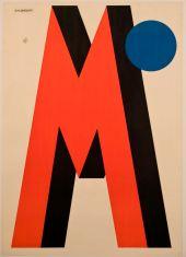Nicolaj Diulgheroff (Kyunstendil, Bulgaria 1901 - Torino 1982) M (Birra Metzger), 1928 stampa litografica a colori su carta Massimo and Sonia Cirulli Archive, New York