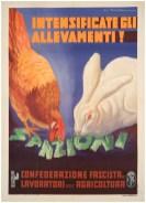 Mario Roveroni Grafiche I.G.A.P, Roma Intensificate gli allevamenti!, 1936 stampa litografica a colori su carta Galleria L'Image - Manifesti originali del XX secolo, Alassio