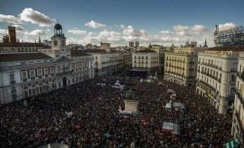 panoramica Puerta del Sol, Madrid, 31 gennario 2015