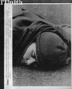 Il corpo di Wilma Monaco sull'asfalto di via della Farnesina