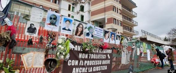 La citta' fantasma a tre anni dal terremoto: la casa dello studente