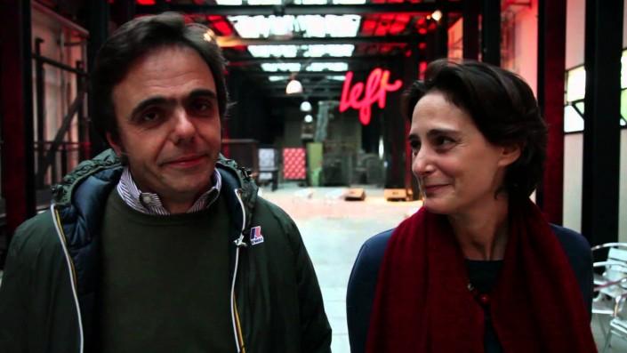 Matteo Fago, l'editore, e Ilaria Bonaccorsi, direttora dimissionaria di Left