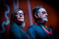 Ilaria Cucchi e Fabio Anselmo al congresso Fiom