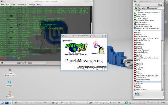 PlanetaMessenger.org no Linux Mint