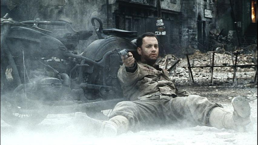 Image result for tom hanks leaning against a motorcycle in saving private ryan