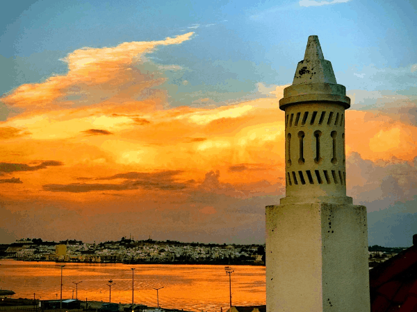Sunset over the Guadiana River