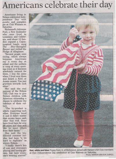 Poppy in the paper