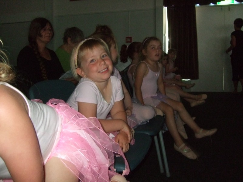 Poppy waiting for her turn on stage