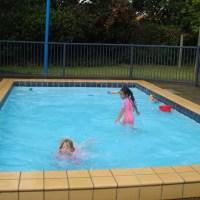 Making a whirlpool at Nayland Pool