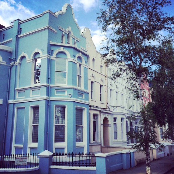 Blue house in Notting Hill