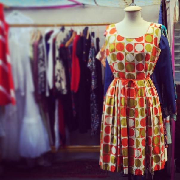 Vintage dress in Portobello Market