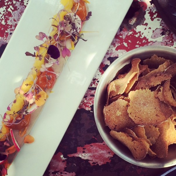 Met mum for lunch at the Parlour in Kensal Rise on Friday..I LOVE this place. Duck paté with sour bread chips. Heavenly.
