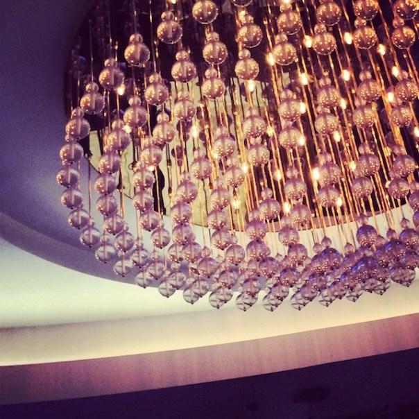 Beautiful art deco light at The Wellsley