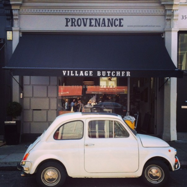 Love this little car - I see it all over my neighbourhood and last Saturday it was parked right outside my lovely local butcher.