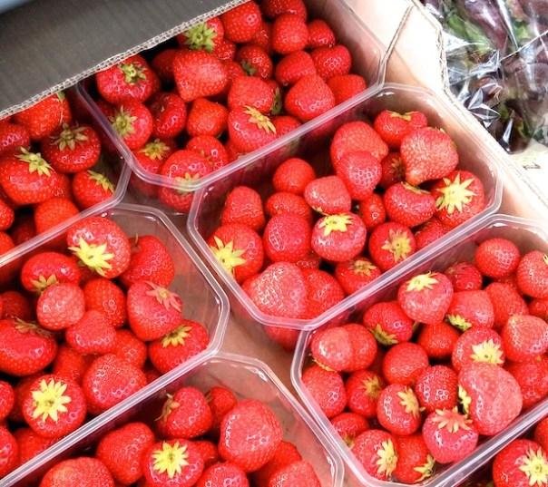 Strawberries on Portobello Road Market