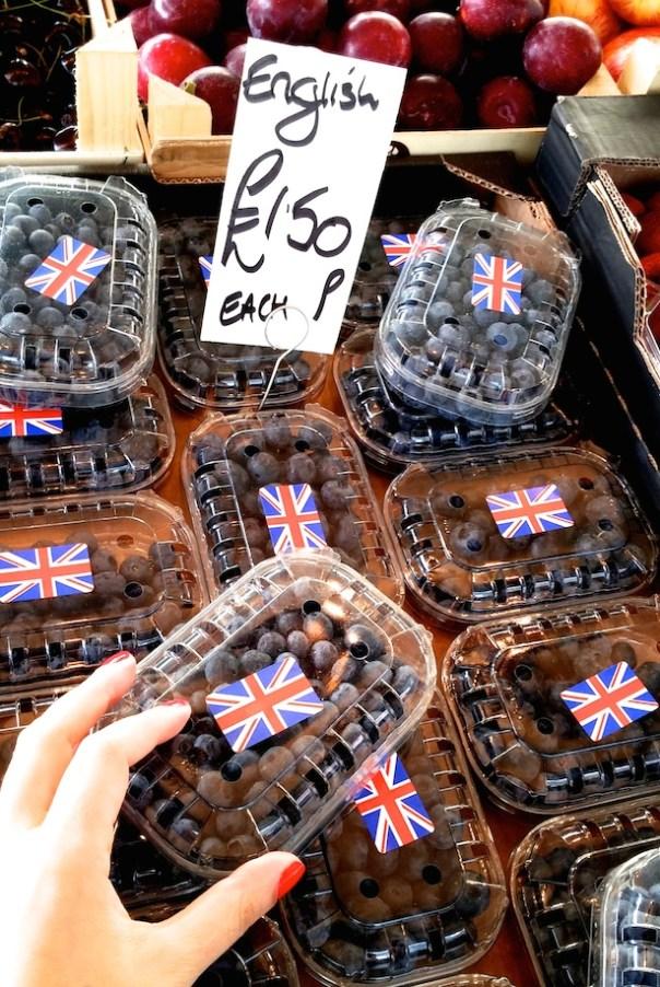 Blueberries at Portobello Road Market